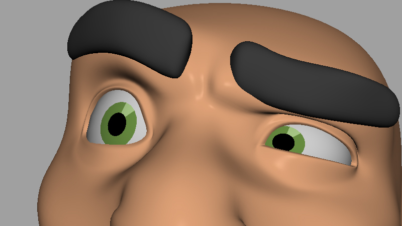 Eye rig on 3D animation