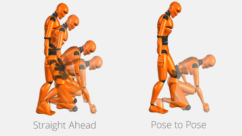Image result for straight ahead action and pose to pose animation gif