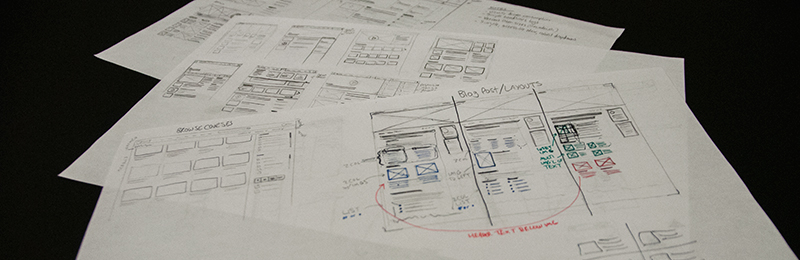 Blog Wireframes