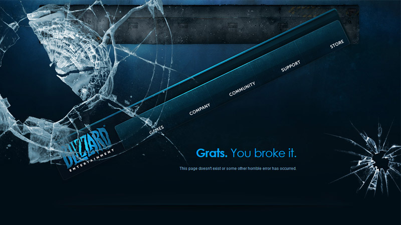 Blizzard 404 error page screenshot