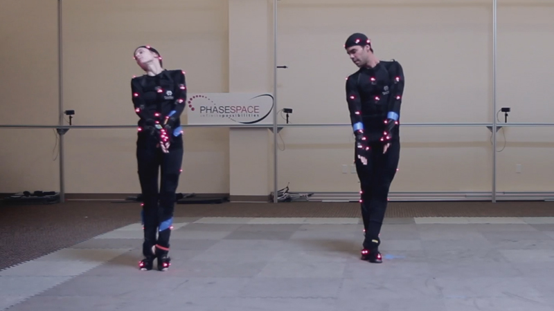Ballerinas in motion capture suits
