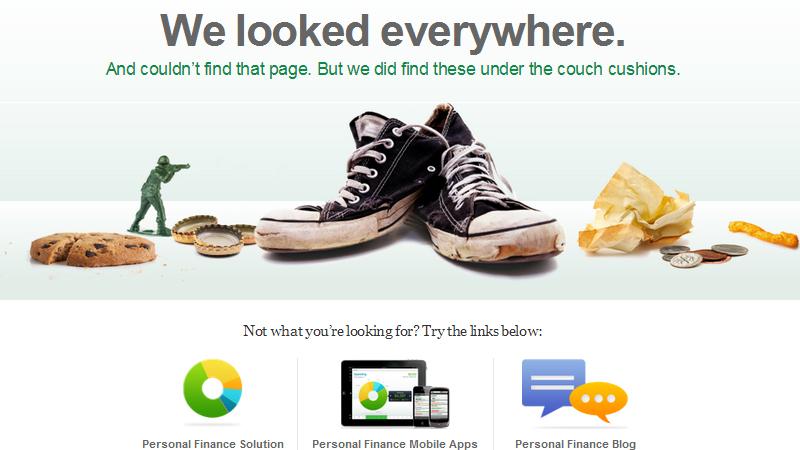 Mint.com 404 error page