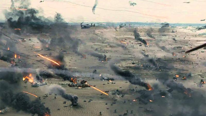 A battle scene in Edge of Tomorrow