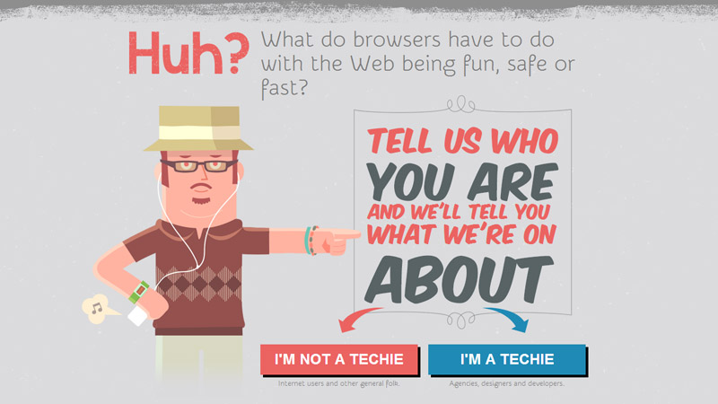 Screenshot from browser awareness day's site.