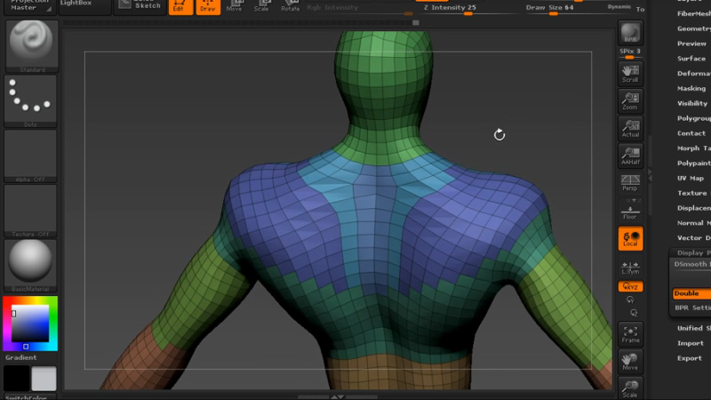 Polygroups in ZBrush