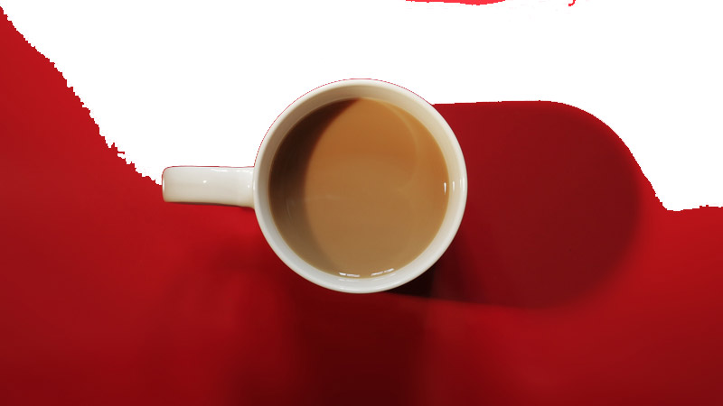 Example of Magic eraser on coffee mug