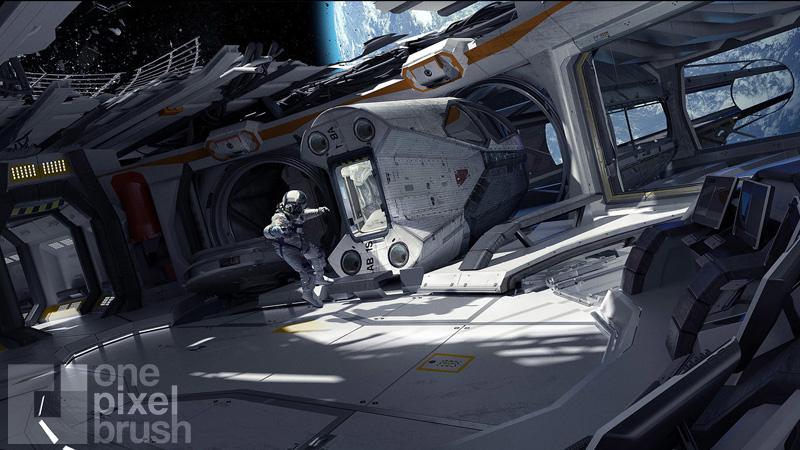 Space pod concept art.