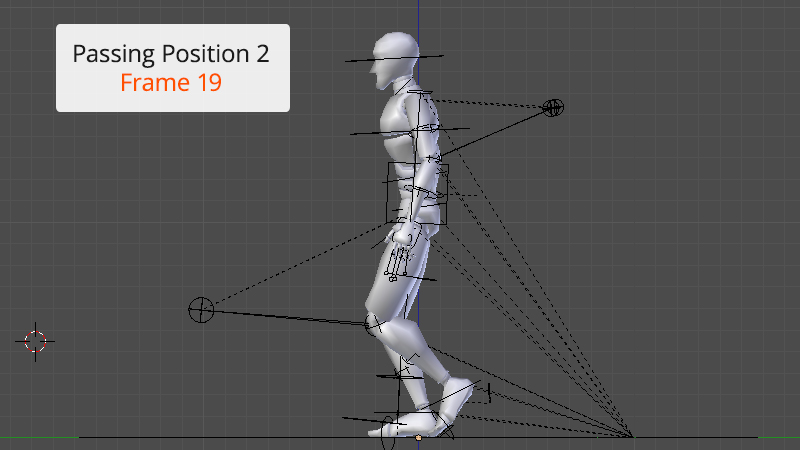 Raise foot off ground in passing position 2 of walk animation cycle