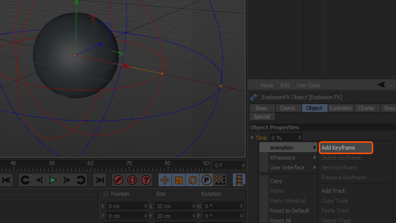 How to use the Explosion FX modifier in CINEMA 4D | Pluralsight