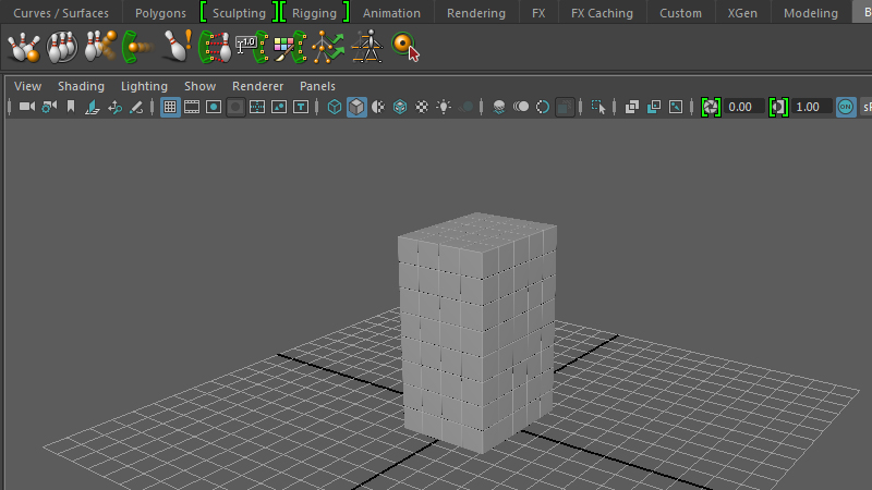 Introductory look at the Bullet physics engine in Maya 2016