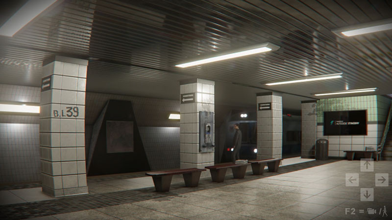 Subway screenshot in Autodesk Stingray.