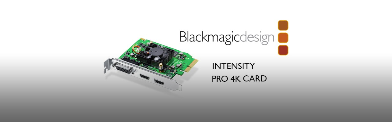 Blackmagic Releases New Pcie Card Intensity Pro 4k Pluralsight