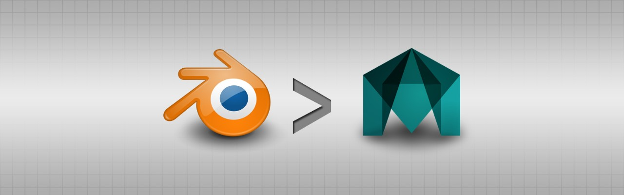 Blender logo and Maya logo