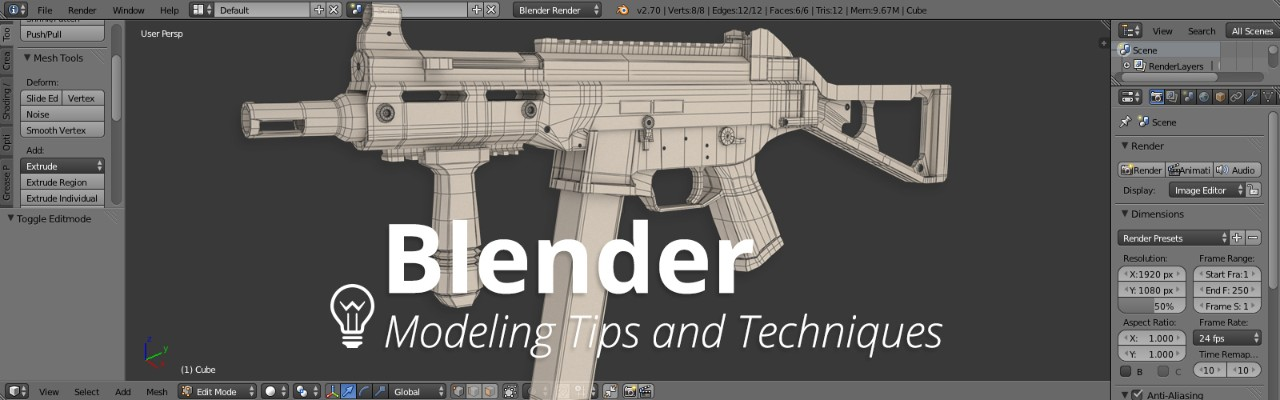 Blender Character Modeling Tutorial Beginner : Work faster in blender by learning these modeling tips and