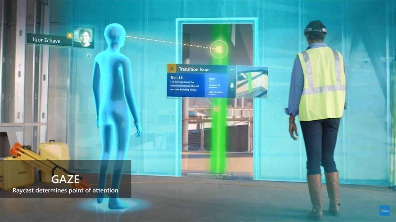 Holographic gaze image