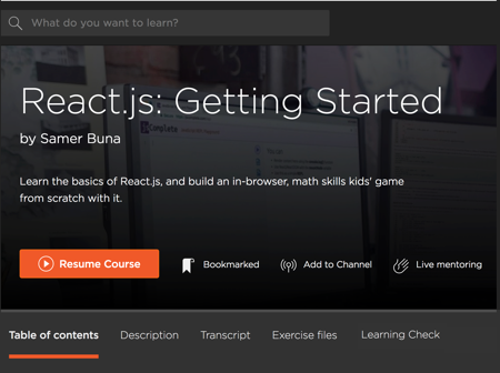 Pluralsight courses