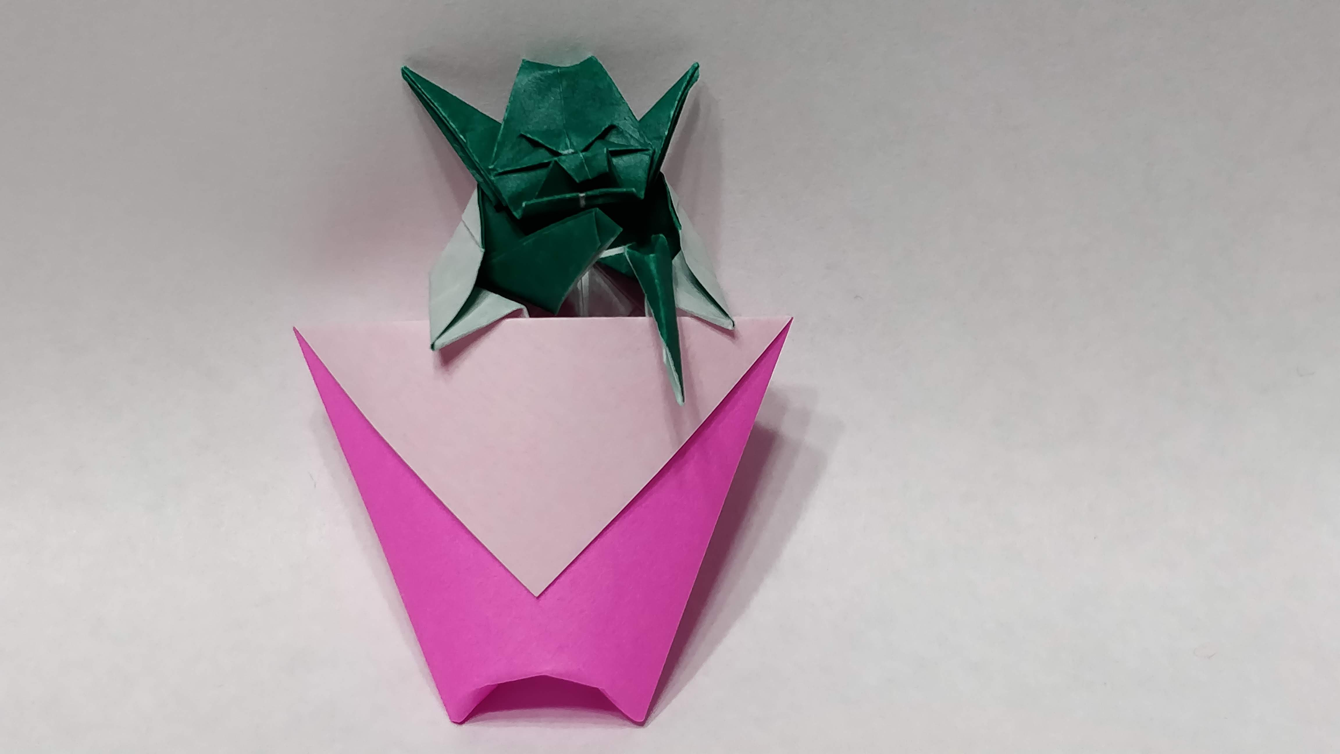 Origami Cup and Yoda